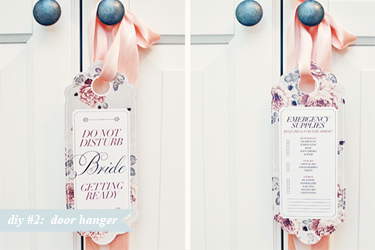 DIY - 2 - Bride Door Hanger - Bijoux Bride - ftd