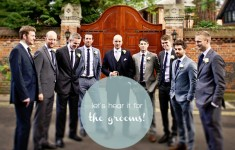 Let's hear it for the grooms!