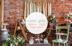Rustic Glam Dessert Table Inspiration in Blush, Gold & Mint by The Little Lending Company and Tatum Reid Photography on www.blovedweddings.com