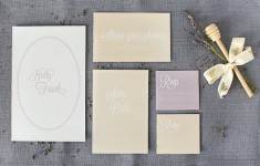 Lavender & honey elegant wedding stationery suite free printable DIY by Itty Bitty & Bijou and Louise Beukes Styling